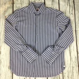 ISAIA Striped Button Down Dress Shirt 17/43